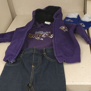 Little  girls  FOUR piece RAVENS outfit!